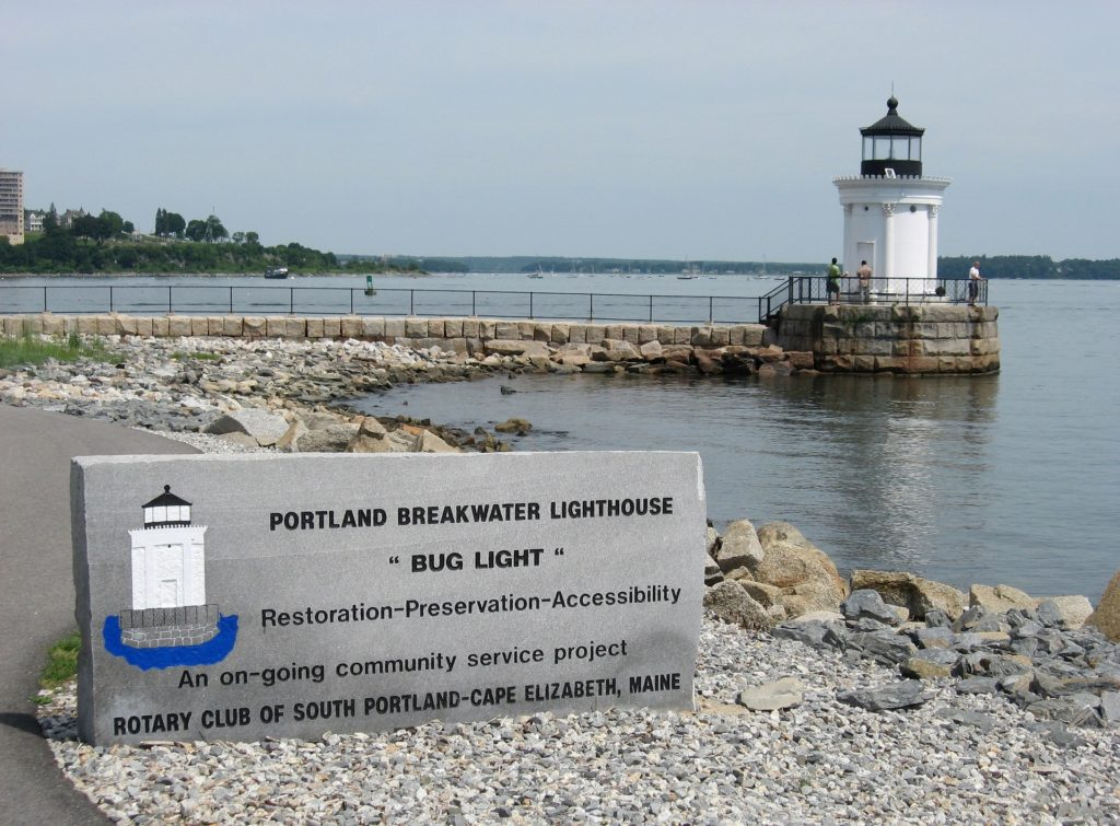 Portland Breakwater Lighthouse - Bug Light - Cape Elizabeth, Maine Lighthouse